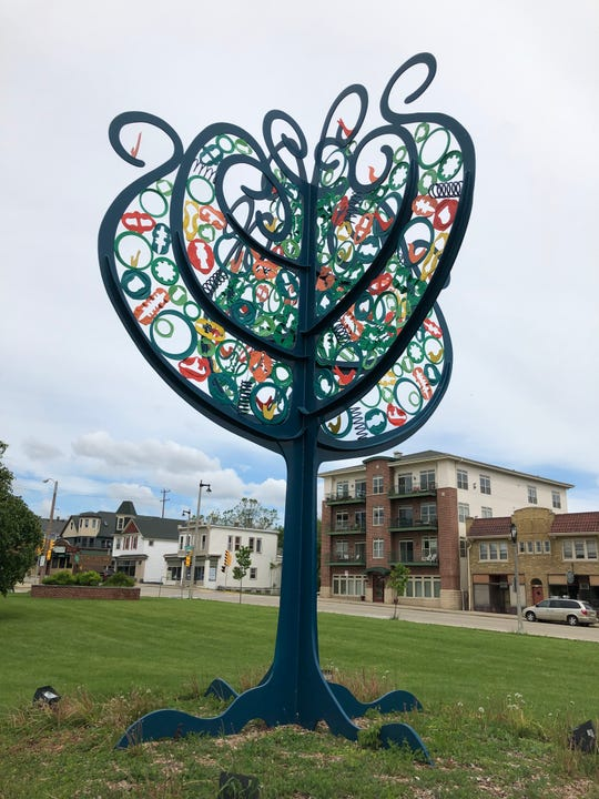 "Many visitors to Miller Park have seen ""Tree of Life,"" sculpted by Nancy Metz White, in Mitchell Boulevard Park."