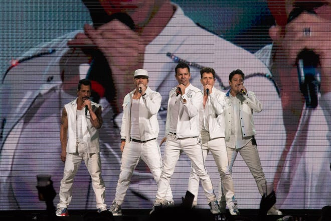 New Kids on the Block perform at  Fiserv Forum for their Mixtape Tour on Wednesday, June 12, 2019.