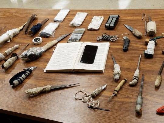 Contraband seized during joint operation at Bibb County Correctional Facility on June 12, 2019.