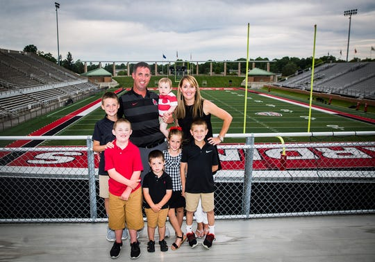 The Lynch family at Ball State's Scheumann Stadium.