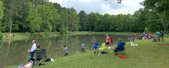 The 2019 Fairview Youth Fishing Rodeo June 8, 2019 at Evergreen Lake in Veterans Memorial Park.