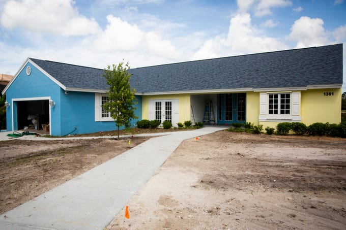 Aunt Janet's House, a free-standing children's bereavement center run by Avow Hospice, waits for finishing touches in Naples on Thursday, June 13, 2019. The center will celebrate its official opening on Tuesday, June 18. Over 200 children and teens ages 5 to 18 currently use Avow's children's bereavement services, which are free and open to anyone in the community.