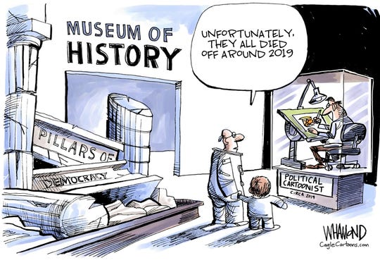 cartoonists in museum