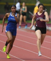 Kayce Darby, of Teaneck, left, will compete in the freshman 100 while Katherine Muccio, of Ridgewood, right, will compete in the championship division 400 hurdles at the New Balance National Track & Field Championships are being held June 13-16 at North Carolina A & T in Greensboro, N.C. beginning Thursday, June 13, 2019.