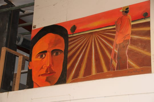 Southwestern New Mexico State Fairground painting.