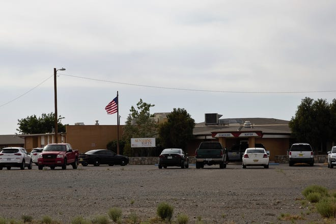 Sunshine Haven nursing home in Lordsburg, protected by private security, is seen on Wednesday, June 12, 2019.