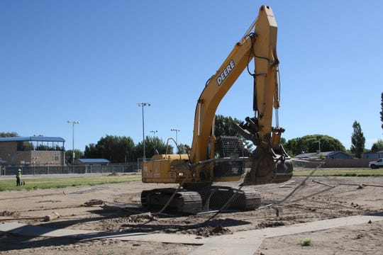 The Bloomfield HIgh School campus will soon be home to a new soccer field after demolition began at the school's old softball field on Wednesday, June 12.