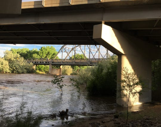 The Animas River runs under West Aztec Boulevard, Wednesday, June 12, 2019, in Aztec.