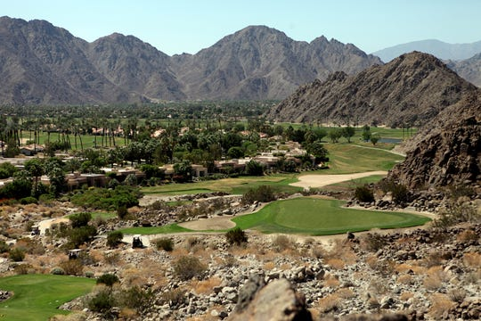The 16th hole of the Mountain Course at the La Quinta Resort and Club. (Marilyn Chung/The Desert Sun)