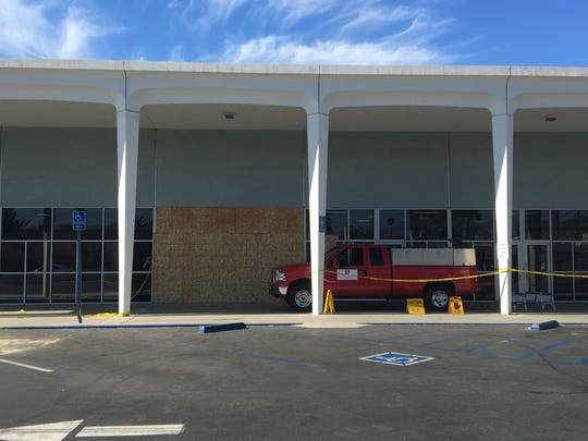 A van crashed into the Palm Springs post office Wednesday night, June 12, 2019. The building took some structural damage.