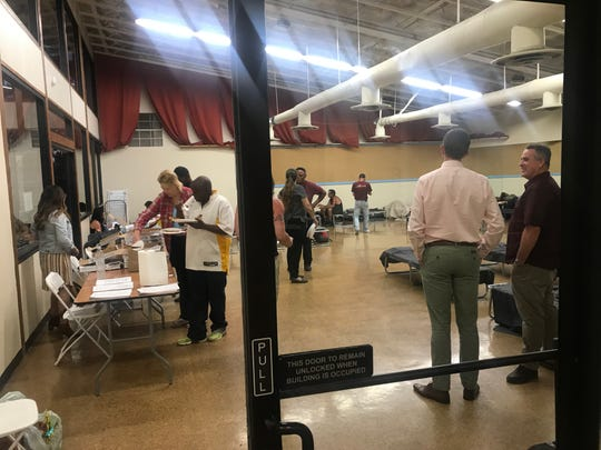 Demuth Park Community Center housed 29 people on Tuesday night, June 12, 2019, as an emergency temporary shelter as the heat became unbearable in Palm Springs.