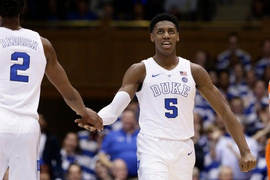Duke freshman R.J. Barrett is a projected top-5 pick.