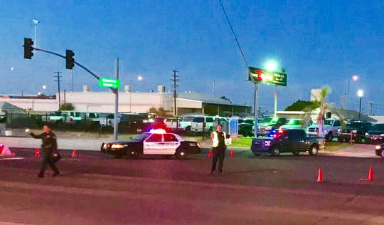 Mesa police were at the scene of a shooting involving an officer on June 12, 2019.