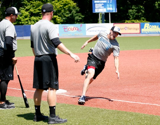 Hudson Valley Renegades catcher Jonathan Embry rounds third base during practice at Dutchess Stadium in Wappingers Falls on June 12, 2019.