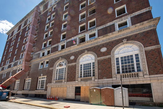 The Yorktowne Hotel as it looked from South Duke Street on June 11, 2019.