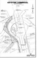 A rendering shows the area requested for abandonment by S3 Development.
