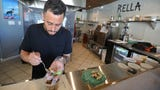 Chef Cruz Nieves loves making people happy with his food. And at Rella, he's in the middle of the action.