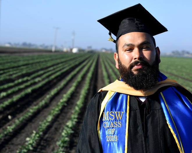 Ricardo Mata earned his master's in social work from San Jose State University. The Salinas native is the first in his family to graduate from high school.