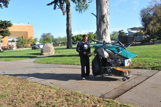 The city of Salinas did a cleanup of Sherwood Park on June 12, 2019, and plans to do one every Friday ahead of enforcement of a law prohibiting people from camping overnight in public parks and recreation areas.