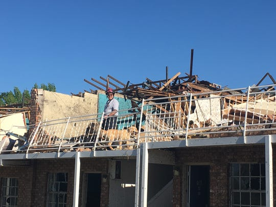 Rescue work in Ruston after April tornadoes.