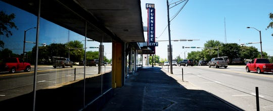 The Sun Furniture building is now vacant on Texas Avenue in downtown Shreveport.