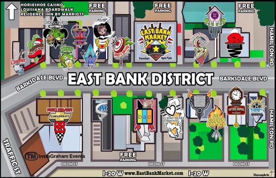 Map of East Bank Market.