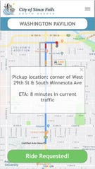 A group studying public transportation in Sioux Falls is testing a cellphone application that would let the public request on-demand rides in place of using buses on fixed routes.