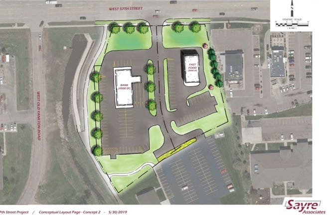 Conceptual plans for the Bridgetown Square development near 57th Street and Western Avenue.
