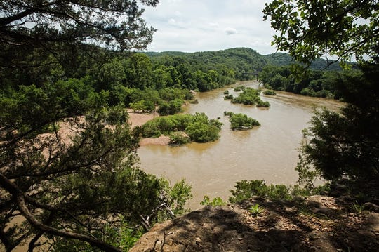 The Buffalo River in north-central Arkansas can quickly go from crystal clear to chocolate milk brown during a rapid flood.
