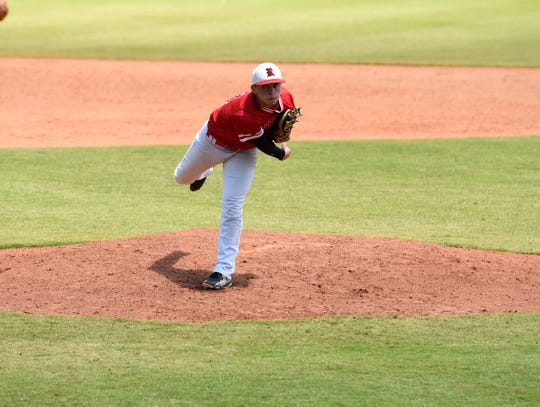 Riverheads' Elijah Dunlap was the starting pitcher for Riverheads in Thursday's loss in the Class 1 state semifinals.
