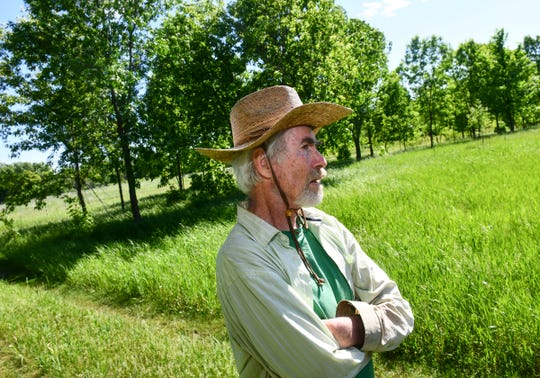 Tim King talks about his experiences in agriculture Wednesday, June 12, at his farm near Long Prairie.