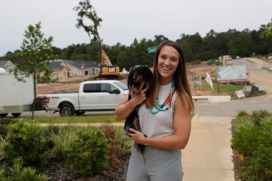 Skyler Smith, 26, lives in a newly constructed home in the Canopy at Welaunee development with her husband and their dog, Fitzgerald.