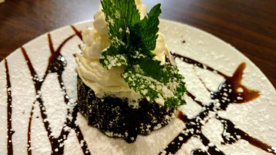 Dessert at Dinner Revolution was molten lava cake.