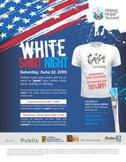 White Shirt Night is 6 to 9 p.m. June 22 at Taste Casual Dining in Hobe Sound, 11750 S.E. Dixie Highway. General admission is $50 per person, with VIP tickets at $100 per person. Guests may RSVP at 772-320-0778 .