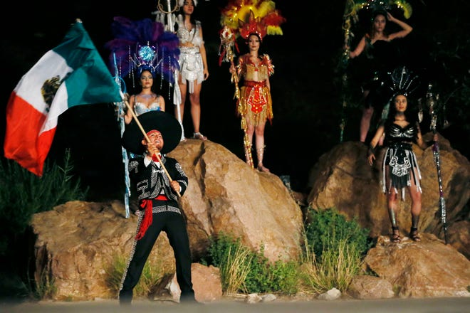 A Viva! El Paso performance from Wednesday, June 12, 2019, at McKelligon Canyon Amphitheatre in El Paso is shown.