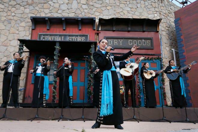 Legna Villalobos sings with Mariachi Paso Del Norte during a VIP showing of Viva! El Paso. On Saturday, Villalobos will perform during a Father's Day celebration at Memorial Park.