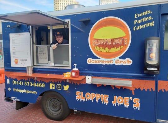 Joe Defeis on the Sloppie Joe's food truck.