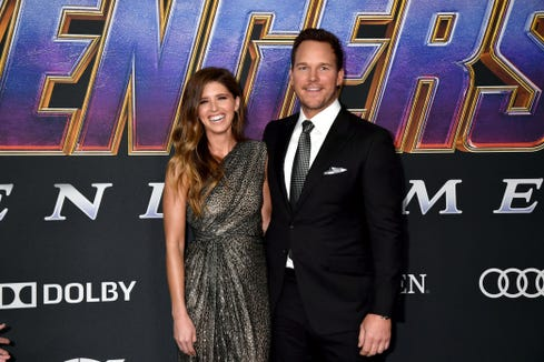 Katherine Schwarzenegger and Chris Pratt got married on Saturday in Montecito, Calif.