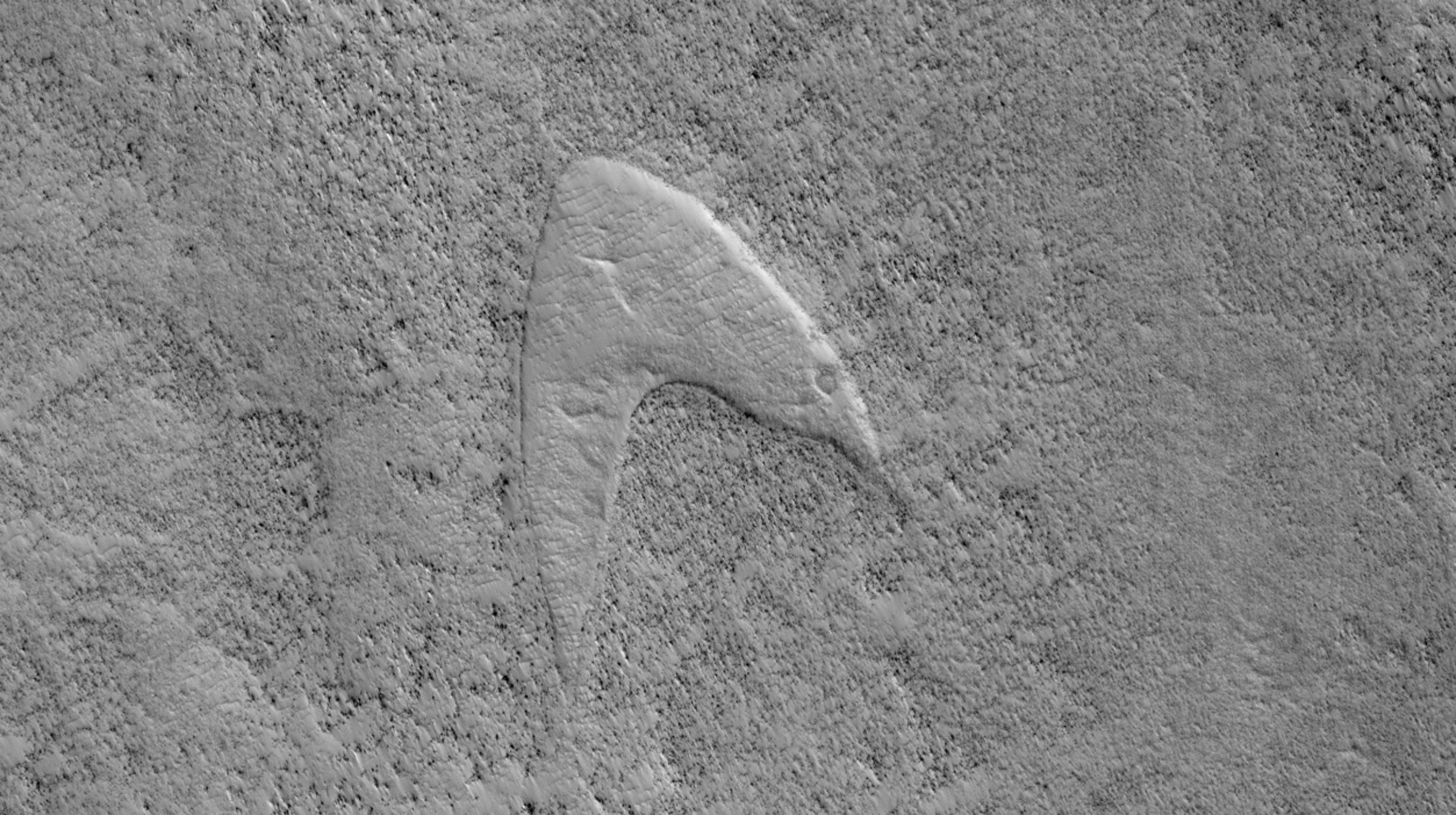'Star Trek' logo - or at least, what looks like it - spotted on Mars