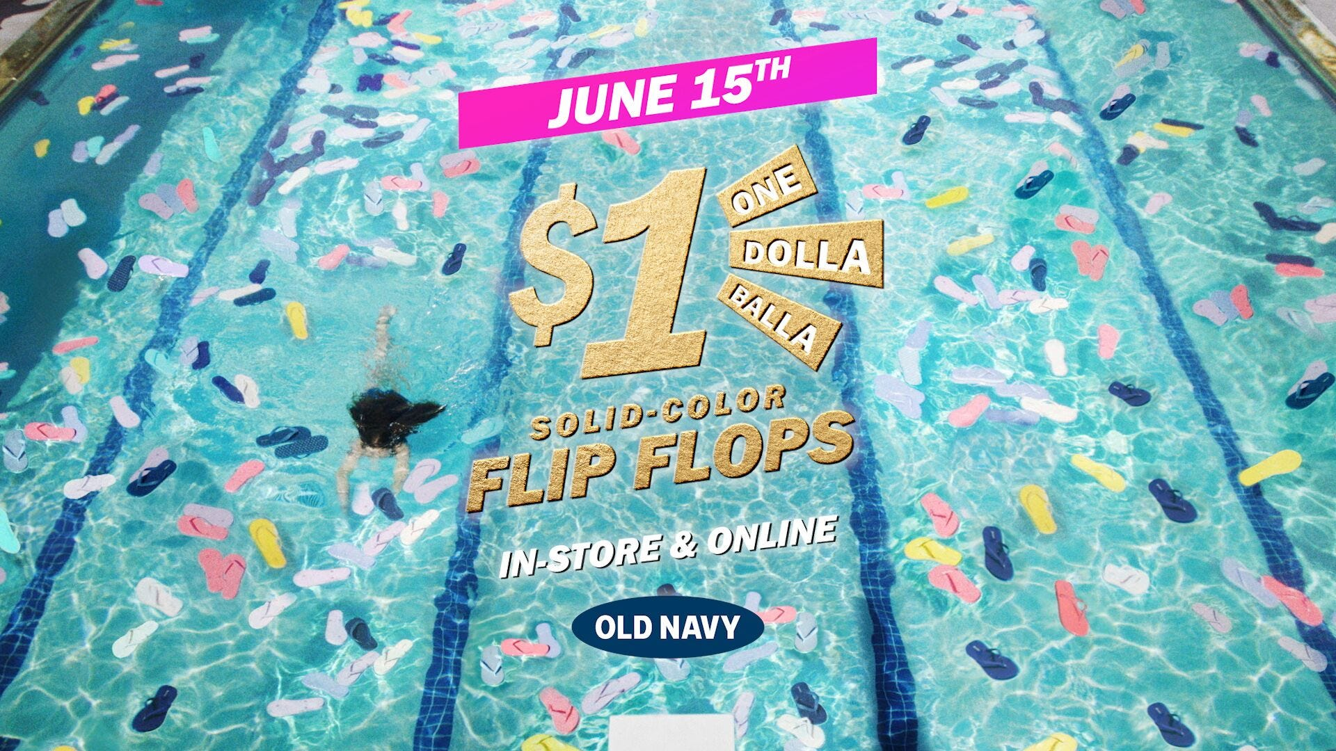 Old Navy flip flops: The annual $1 sale