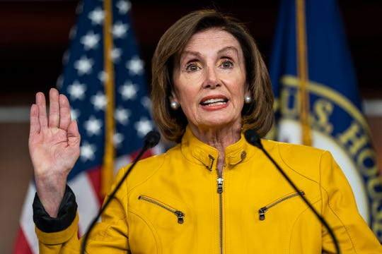 "House Speaker Nancy Pelosi called President Donald Trump's remarks about taking foreign information on his 2020 opponent ""an assault on our democracy."""