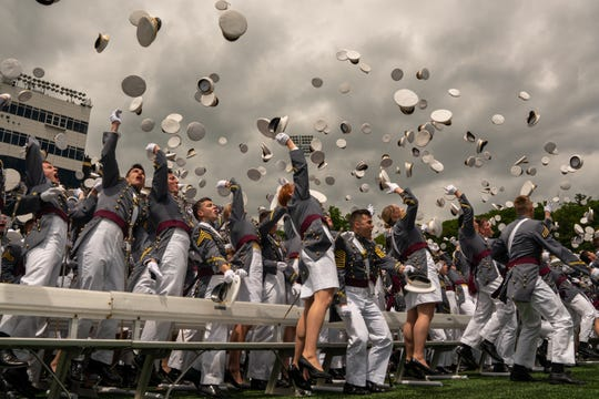 The U.S. Military Academy graduation ceremony on May 25, 2019, in West Point, New York.