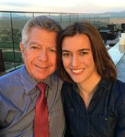 Amanda Sloat and her father, Donald Sloat, in Scottsdale, Arizona, in February 2016.