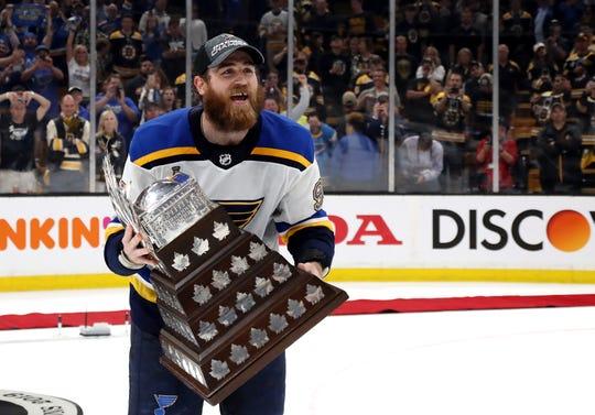 St. Louis Blues forward Ryan O'Reilly won the Conn Smythe Trophy as playoff MVP.