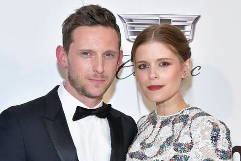 Kate Mara said the joy of learning she and Jamie Bell were pregnant a second time was tempered by having had a miscarriage.