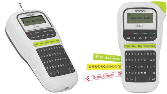 This easy-to-use label maker makes labeling fun.
