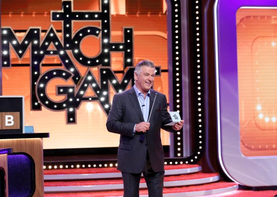"Alec Baldwin hosts ""Match Game."""