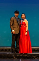 Recent high school graduates Matthew Wautier, left, of Green Bay Southwest, and Kyra Hietpas, of Little Chute, were the big winners at the Center Stage Musical Theater Awards show in May. They're headed to New York City Sunday for a week of workshops and to be a part of the Jimmy Awards.