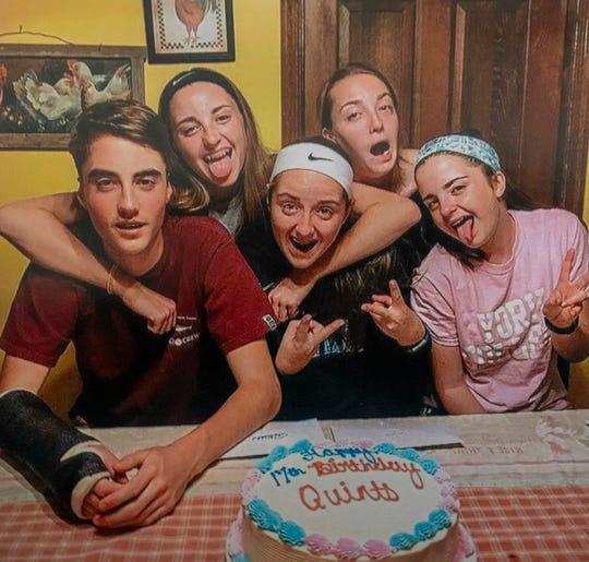 The Keogh quints celebrating their 17th birthdays last year.