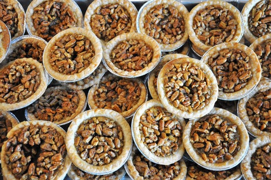 A tray of miniature homemade pecan pies was donated Friday for the Cisco Pie Fest pie buffet.